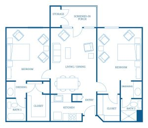 CountrySide Lakes Two Bedroom Residences B