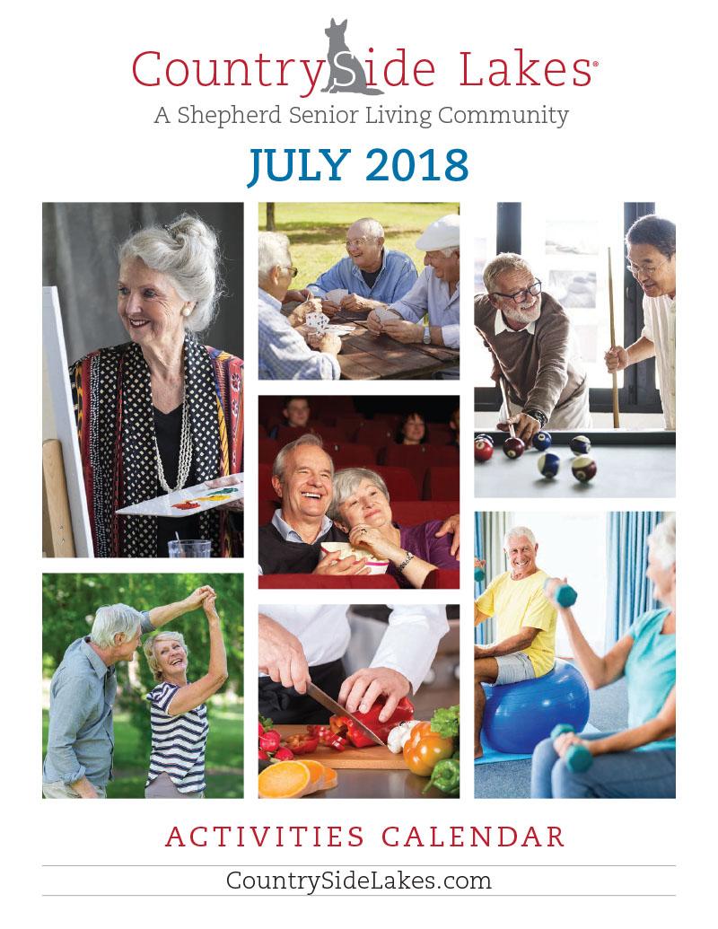 Port Orange Senior Living Activities Calendar July 2018